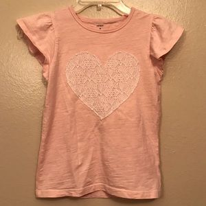 Peach tank top with ruffled sleeves